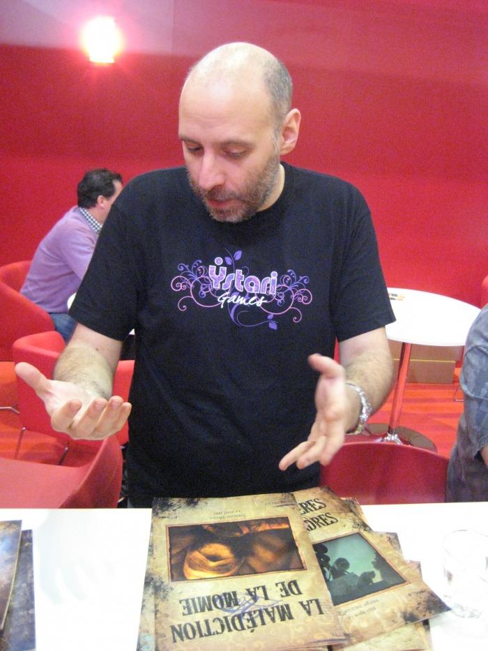 Cyril Demaegd, l'éditeur, à Essen 2011