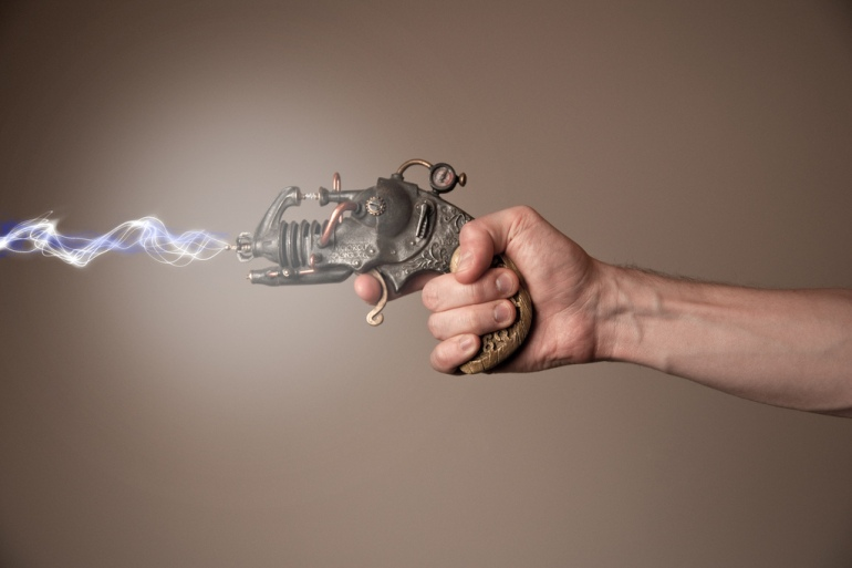 Steampunk Gun, Flickr, CC, by Sandy Mc Donald