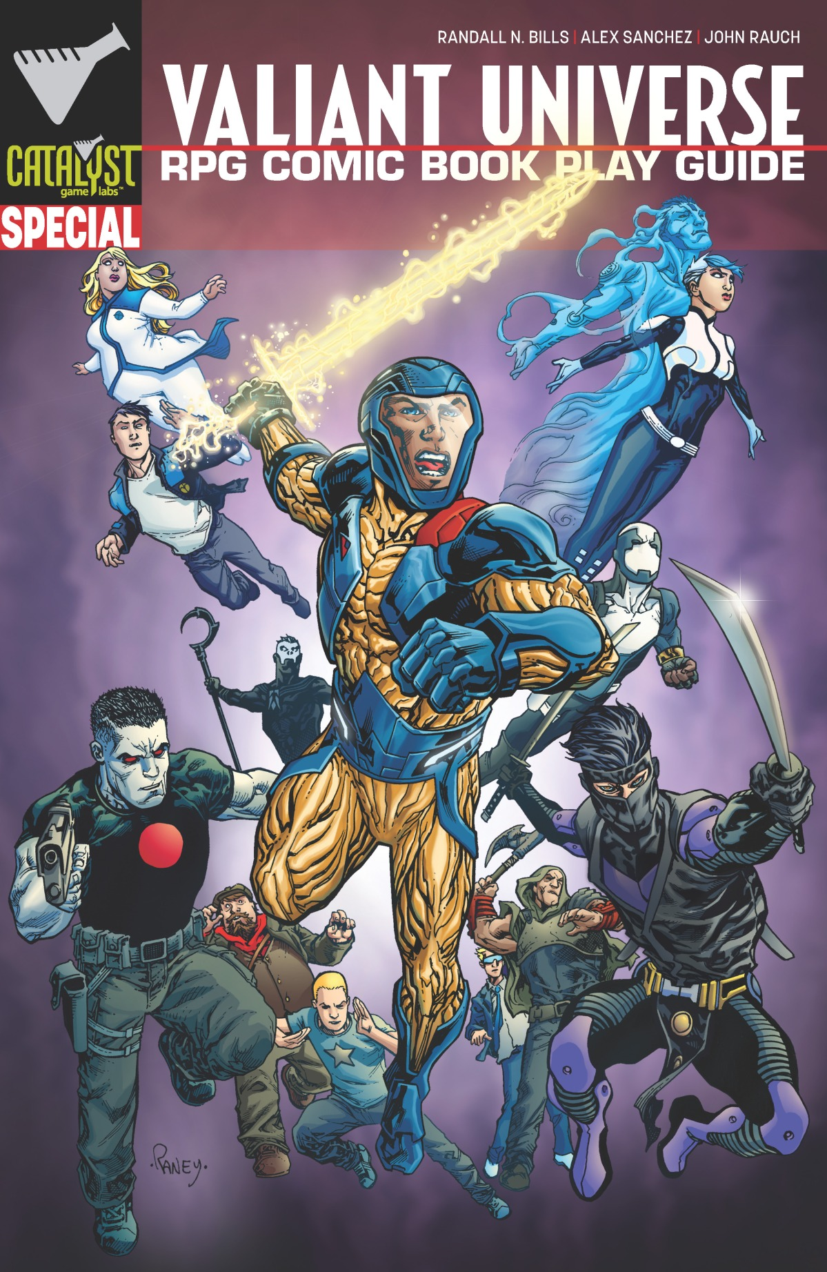 Pages de Valiant Universe RPG Comic Book Play Guide