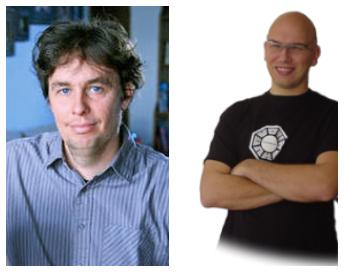 Sébastien D. à gauche, Cédric L à droite