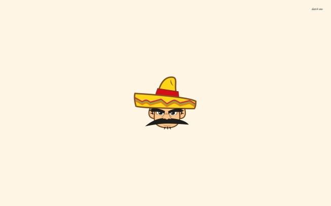 40348-mexican-with-a-sombrero-1920x1200-minimalistic-wallpaper