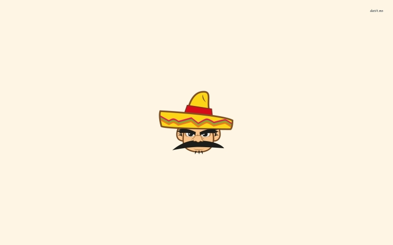 40348-mexican-with-a-sombrero-1920x1200-minimalistic-wallpaper